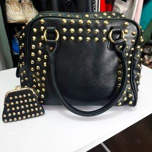 Set: Steve Madden black tote bag + matching purse